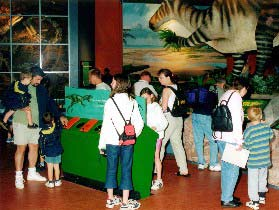 visitors at dinosaur isle